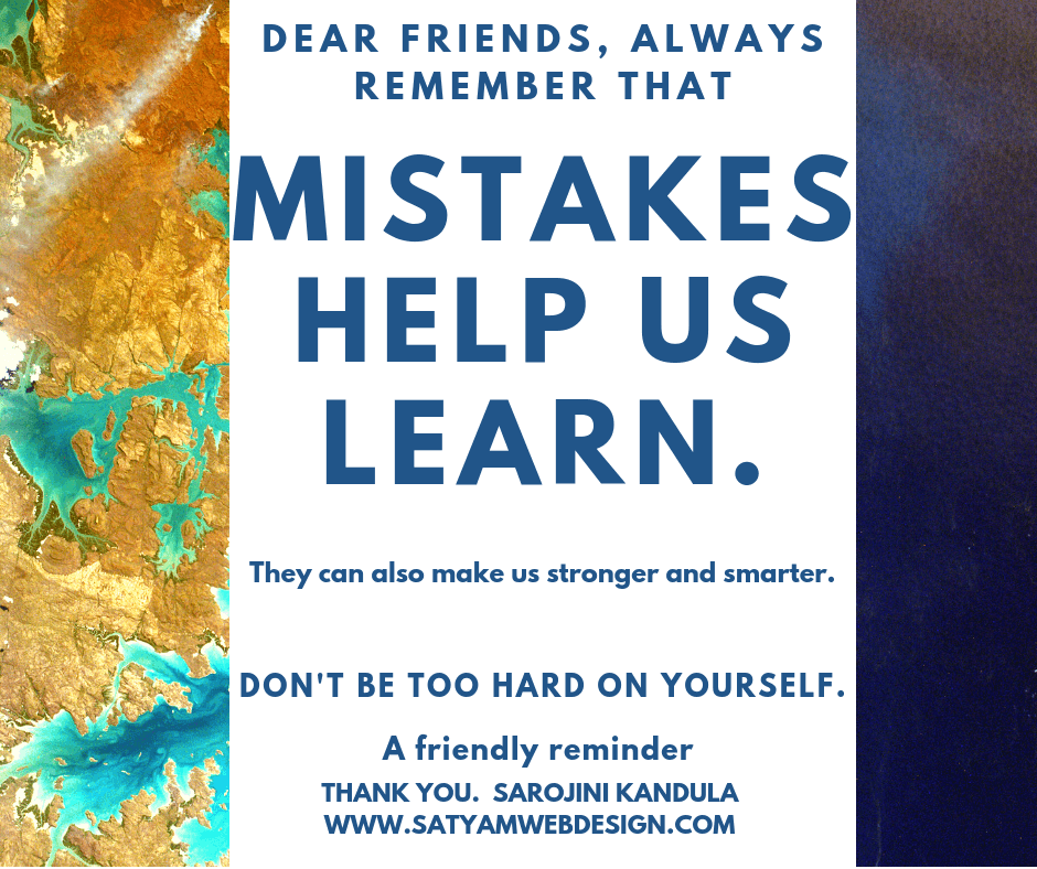 MISTAKES HELP US LEARN - Success & Success Techniques